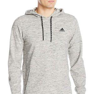 Adidas men's pique pull over hoodie